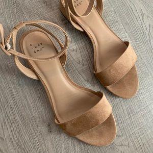 Tan strap flat